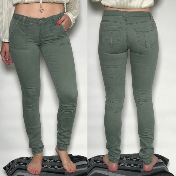 Urban Outfitters Pants - Urban Outfitters Green Skinny Jeans